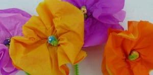 tissue flower